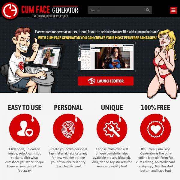 Cum Face Generator